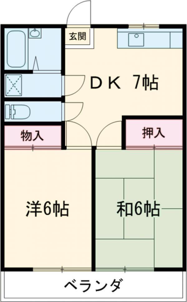 松村ハイツ 201号室の間取り