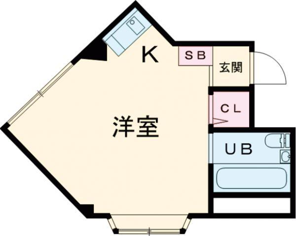 アパートメント白糸台 403号室の間取り