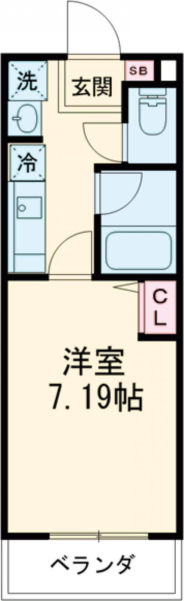 Studio 新町 203号室の間取り