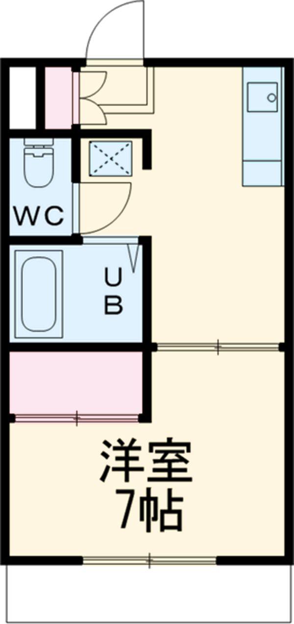 エリールカネヨシ 207号室の間取り