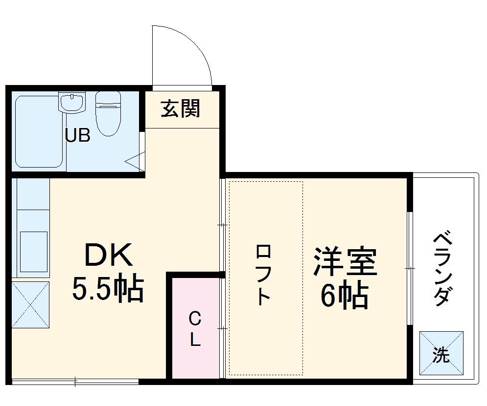 レジデンス東戸塚 201号室の間取り