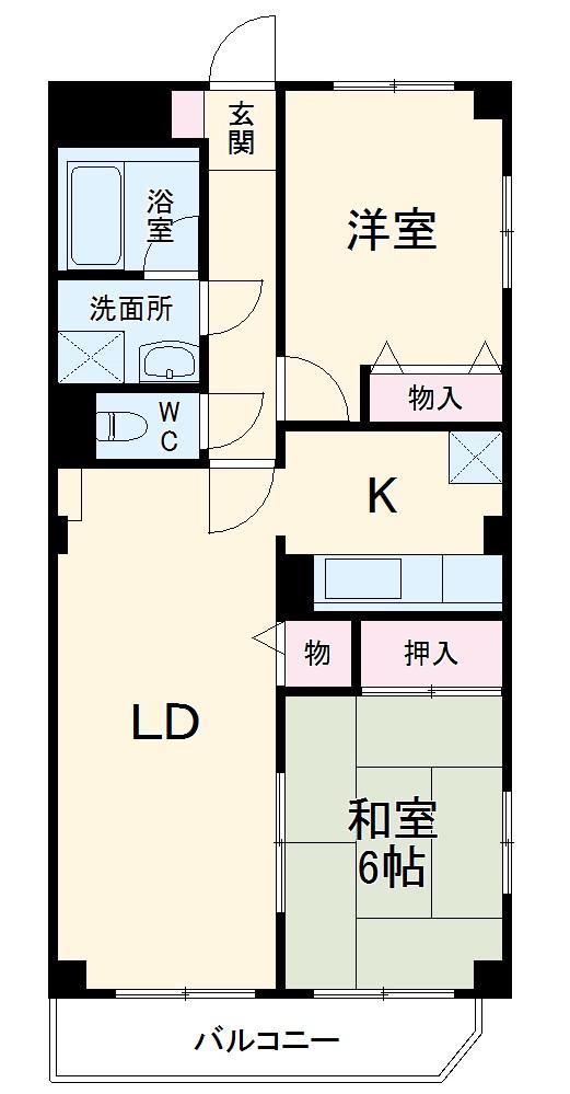 EASTNAKADA 305号室の間取り