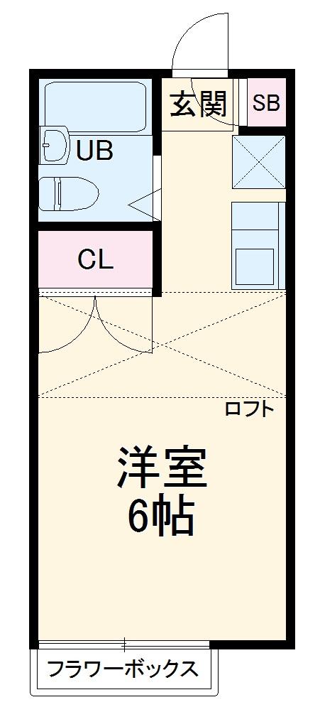 ピュア戸塚 203号室の間取り