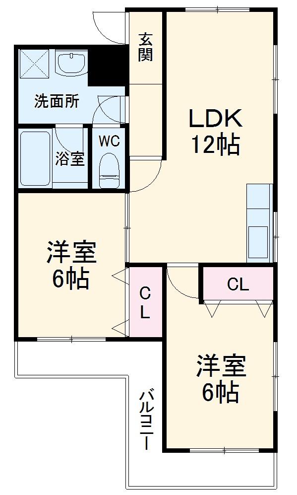 第二セーフズマンション 401号室の間取り