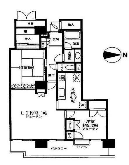 ニューシティ東戸塚タワーズシティファースト 708号室の間取り