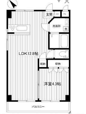 新山下3番館賃貸マンション 201号室の間取り