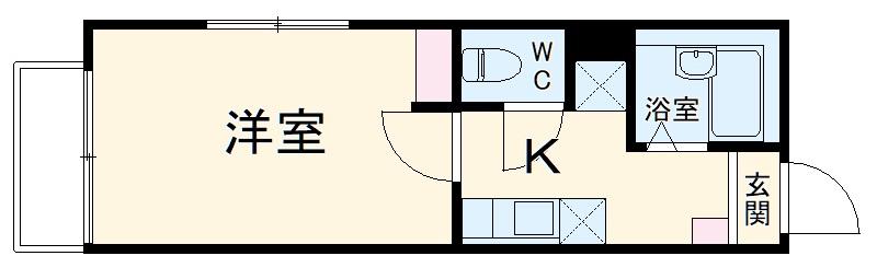 ワイズ横浜上大岡 101号室の間取り