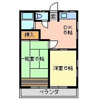 田村ハイツB 205号室の間取り