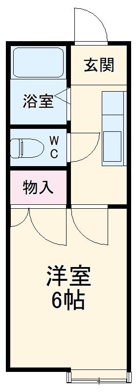 ハイツサンフラワー富岡 107号室の間取り