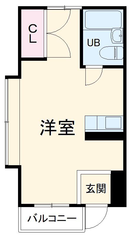 五月フレックスマンション 205号室の間取り