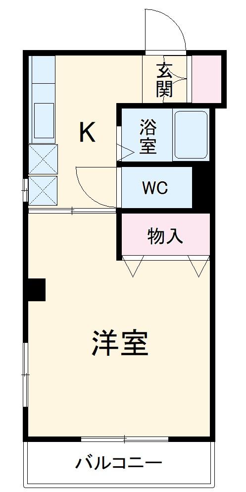 K1ビル 205号室の間取り
