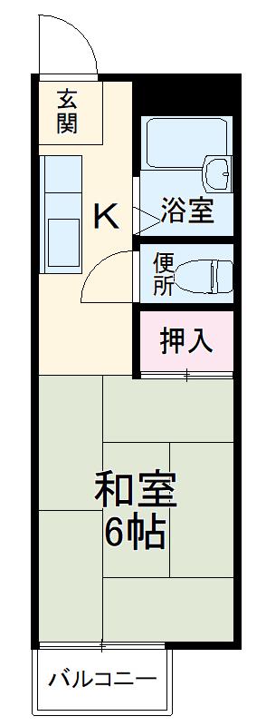 関山アパート 101号室の間取り