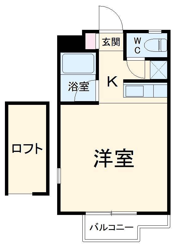 カーサU Ⅱ 103号室の間取り