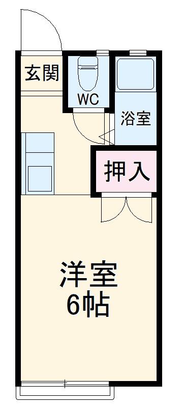 パナハイツ田岡三木町 203号室の間取り