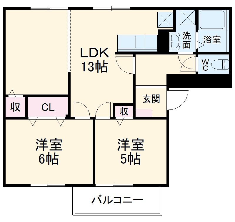 赤坂アーバンライフA 02010号室の間取り