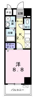 メゾン Shinka 401号室の間取り