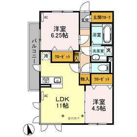 Famille Maebashi 305号室の間取り