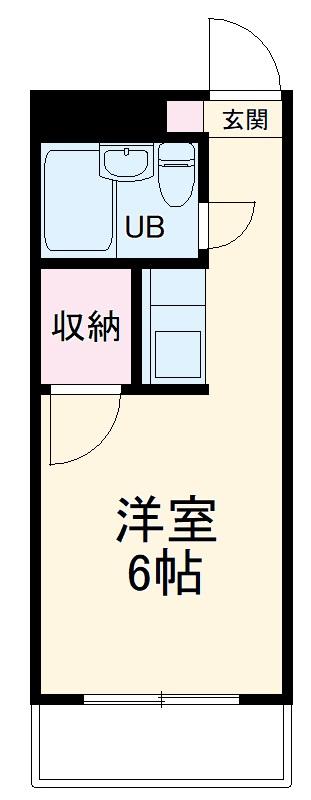 金沢八景相川ビル 402号室の間取り