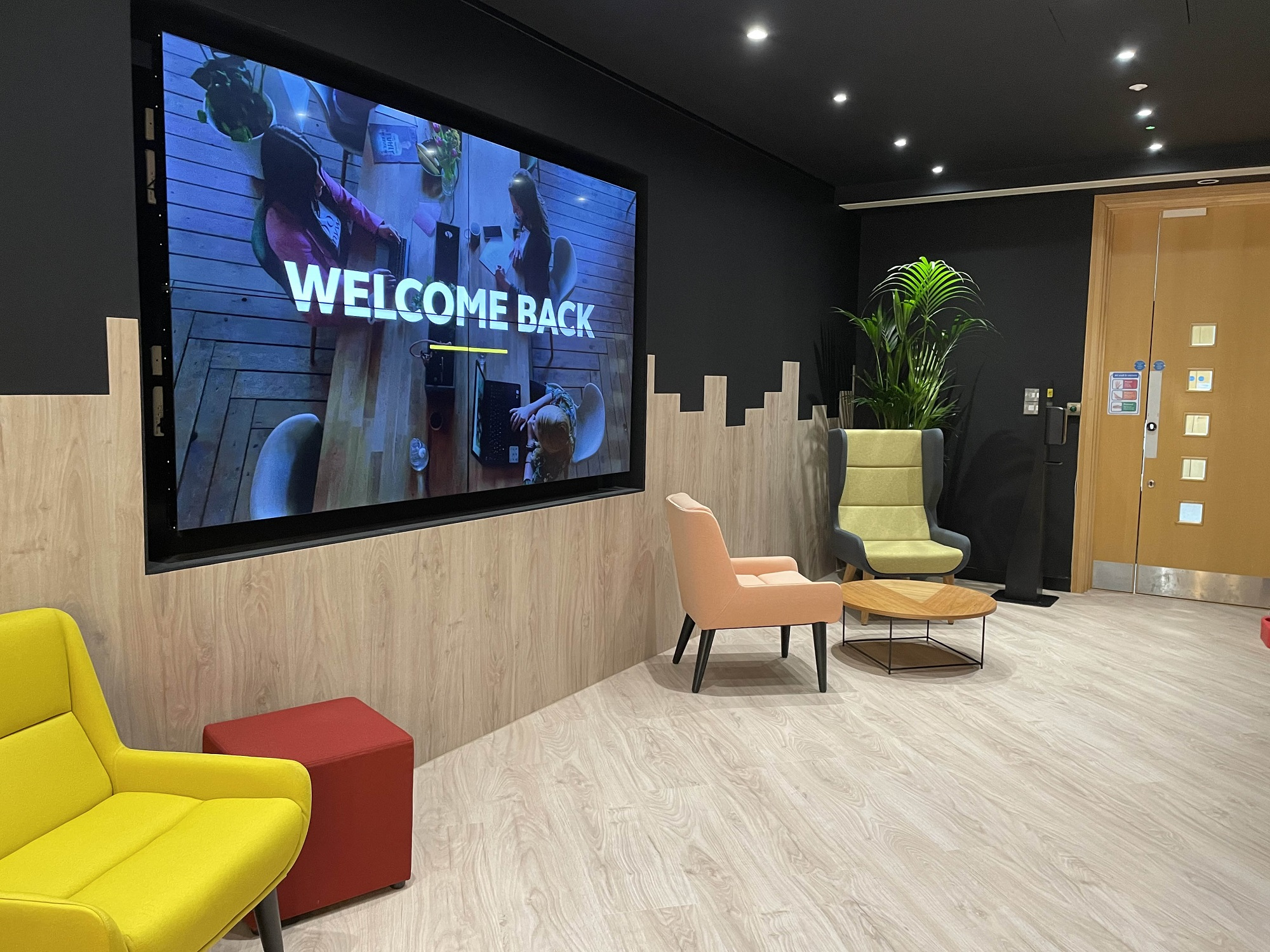 Jabra's reception area at The Curve, Langley - smaller