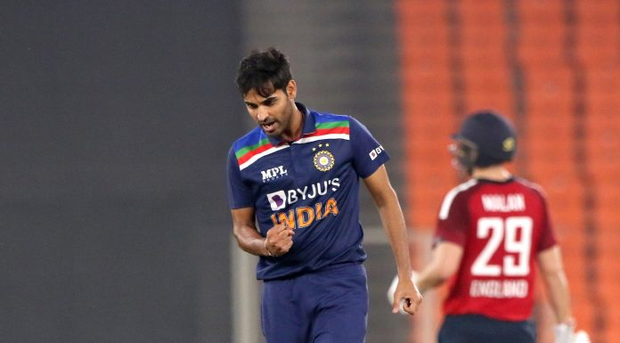 Bhuvneshwar kumar selected player of the month by icc