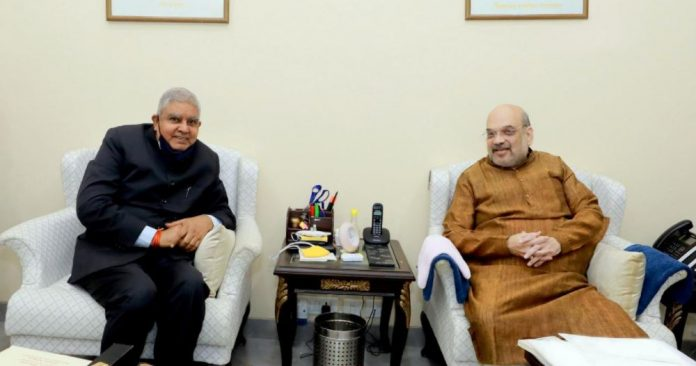 Bengal Governor Jagdeep Dhankhar in delhi meeting with Union Home Minister Amit Shah