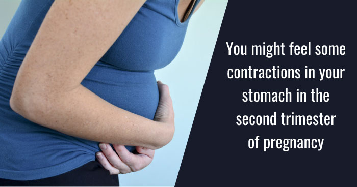 contractions in your stomach in the second trimester of pregnancy