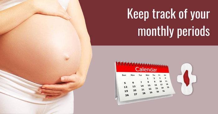 Keep track of your monthly periods