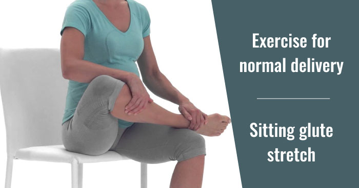 Sitting glute stretch