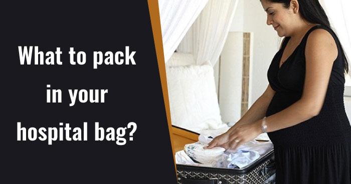 Third trimester tips - hospital bag
