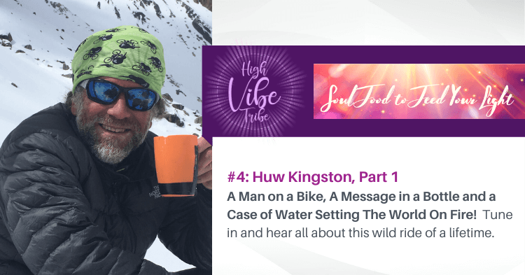 huw kingston guest on the high vibe tribe, a heartshift radio podcast program