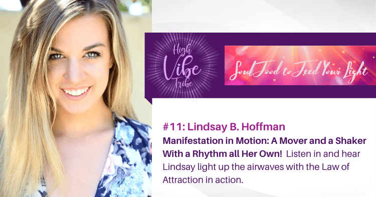 lindsay hoffman guest on the high vibe tribe, a heartshift radio podcast program