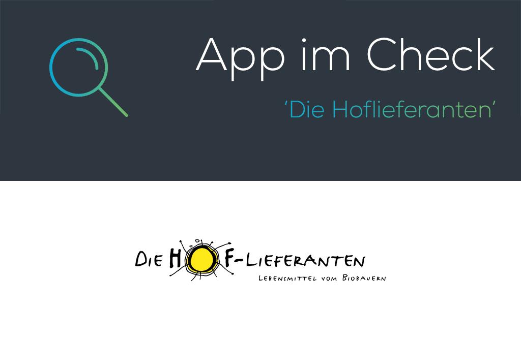Die Hoflieferanten – App im Check