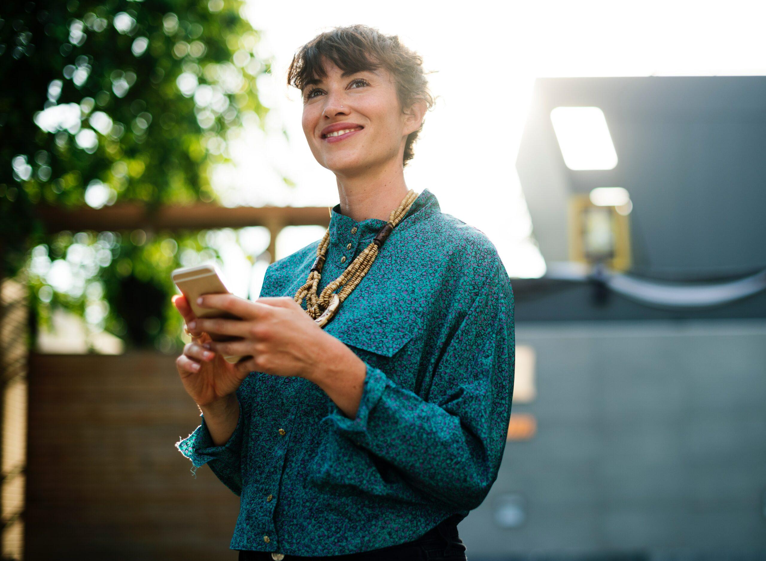 Imagebild_Businesswoman_Smartphone