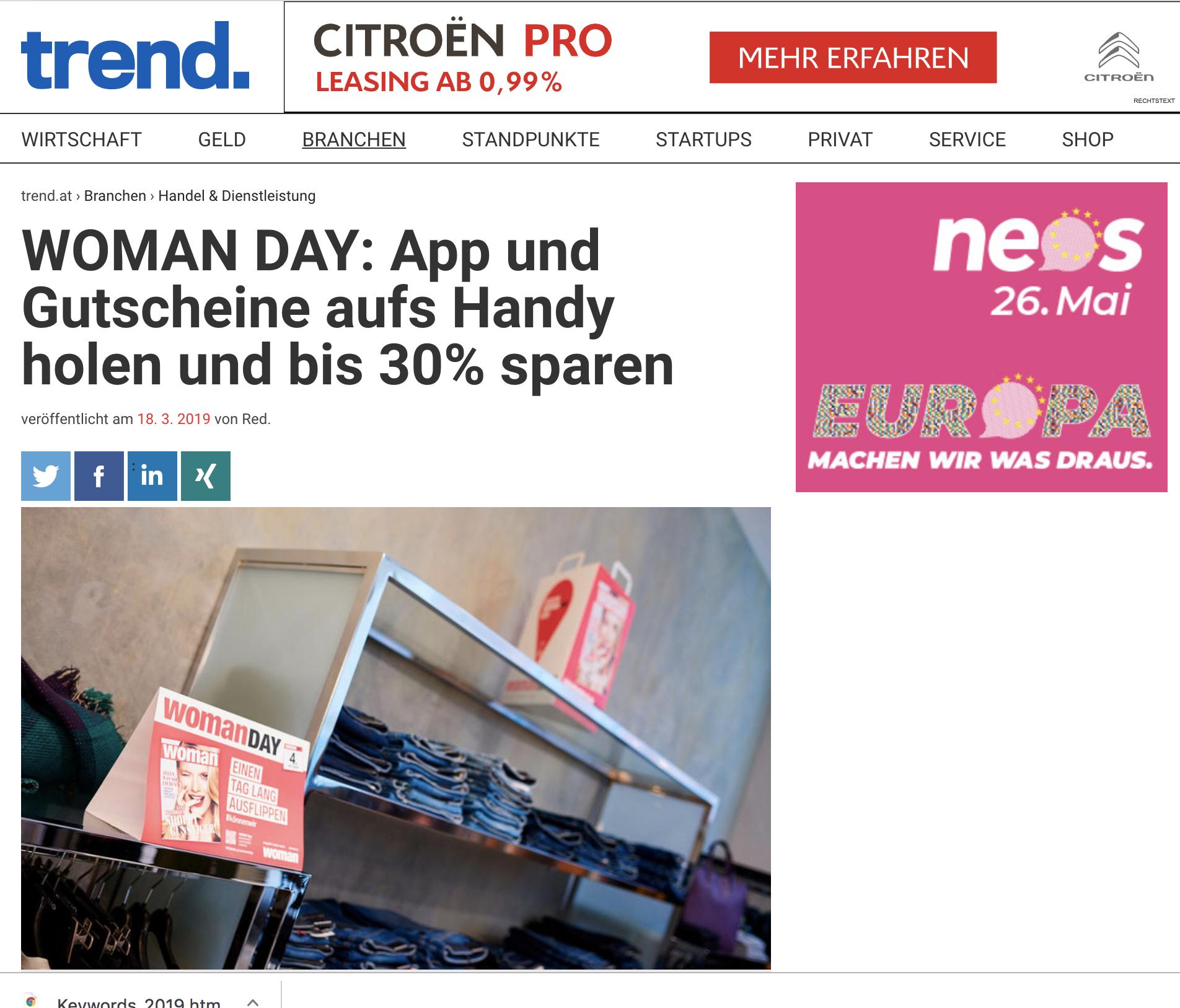 WOMEN App-Trend Magazin