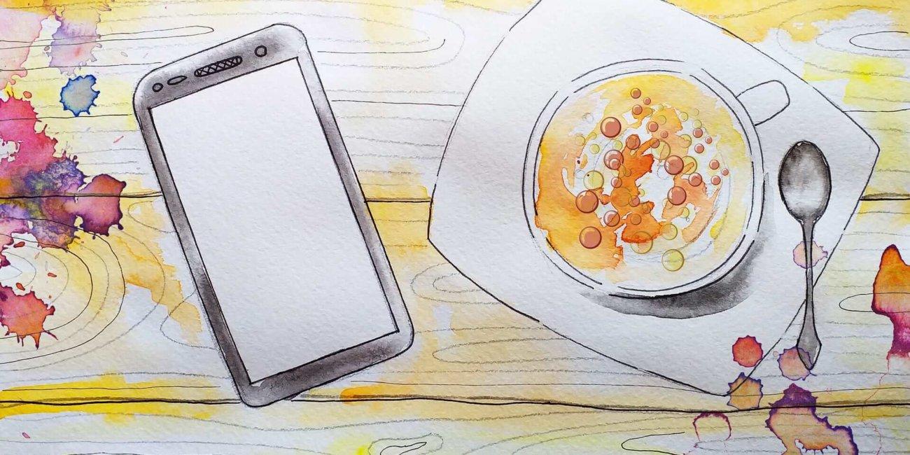 Image_Bunte Zeichnung Smartphone