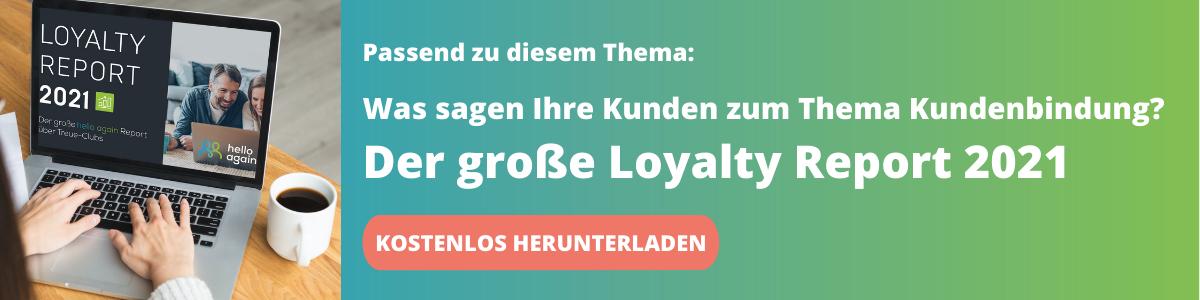 Kostenloser Download: der große hello again Loyalty Report 2021