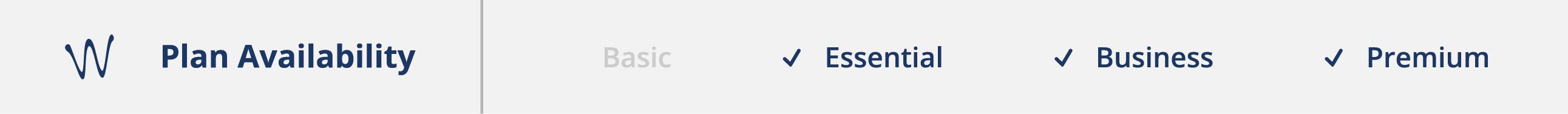 Plan Availability: Essential + Business + Premium