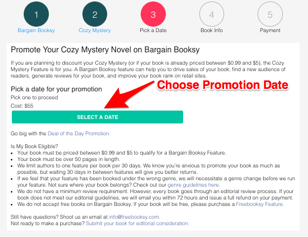 Can I purchase a Bargain Booksy Promotion if my book isn't