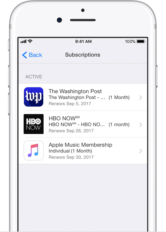 iphone app subscriptions