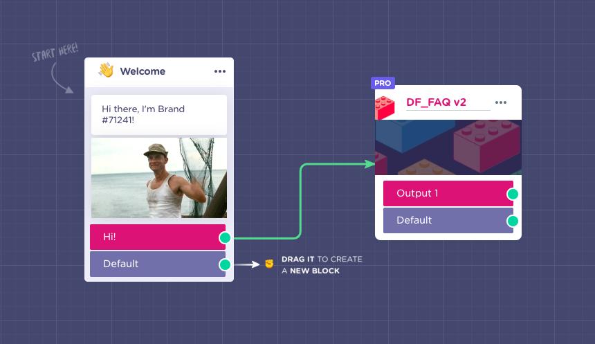 How to create a FAQ in Landbot with Dialogflow API v2 (BETA
