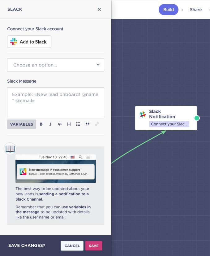Integrations > Slack Notification - Landbot Help