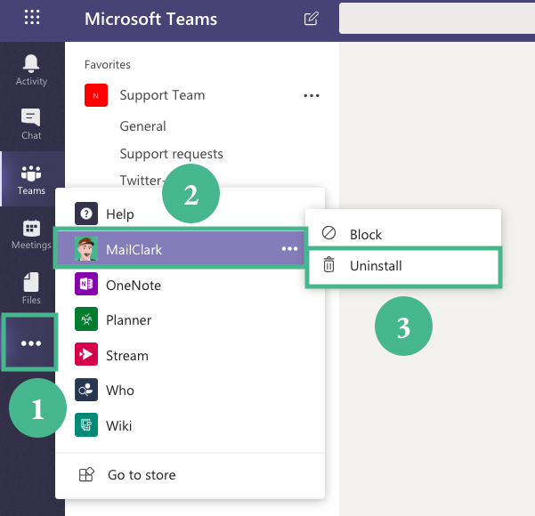 How to uninstall MailClark from Microsoft Teams - MailClark Help Center