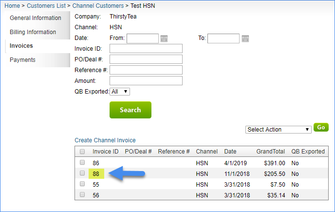 Creating a Channel Invoice - SellerCloud Help