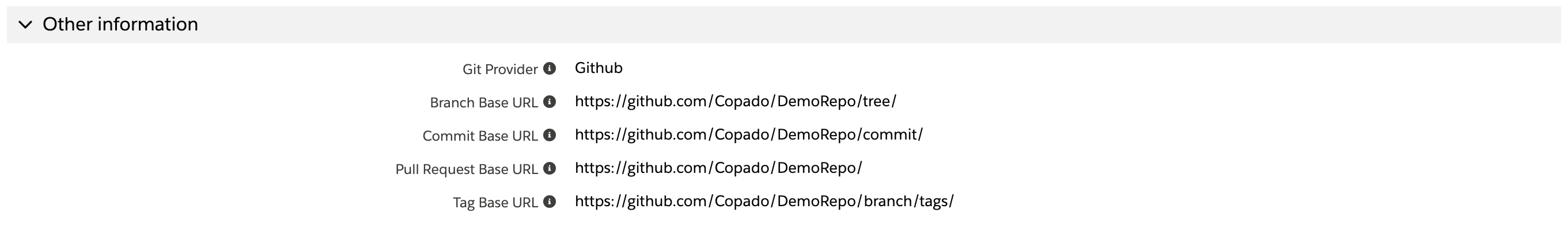 Quick Links to Your Git Repository - Copado Solutions