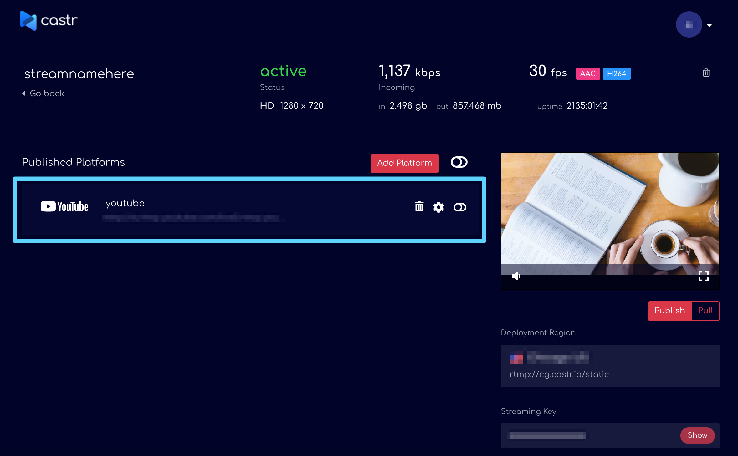 Stream Live To Facebook & Youtube Simultaneously Using Castr