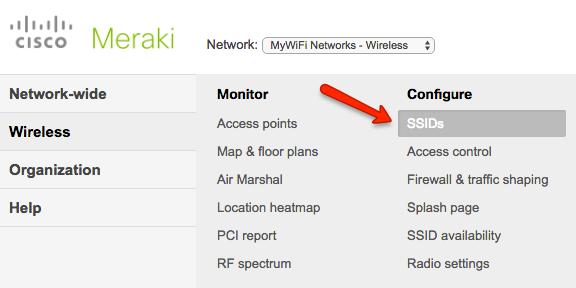 Cisco Meraki Cloud Integration (Existing Manual Setup) - MyWiFi