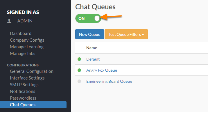 Enabling Chat Queues