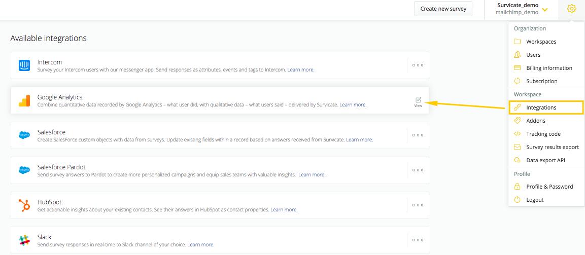Google Analytics integration - Help Center