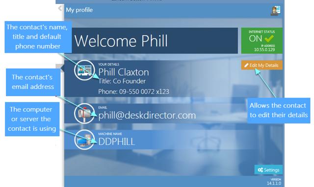 The new profile screen