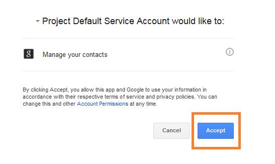 Neat Lightweight App Send a contact to Google - Step 6
